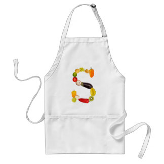 "type character ""S"" OF fruits and vegetables Adult Apron"