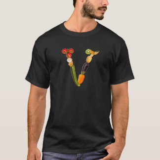 "type character ""V"" OF fruits and vegetables T-Shirt"