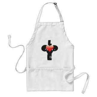 Type design of words God/Love in shape of a cross. Adult Apron