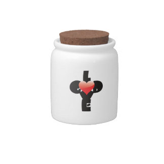 Type design of words God/Love in shape of a cross. Candy Dish
