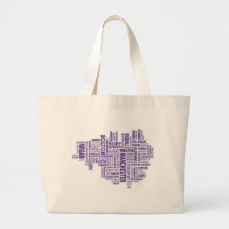 Type map of Greater Manchester Tote Bag