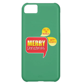 Type Merry Christmas Joy to the World and Happy Ho Cover For iPhone 5C