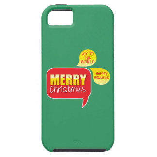 Type Merry Christmas Joy to the World and Happy Ho iPhone SE/5/5s Case