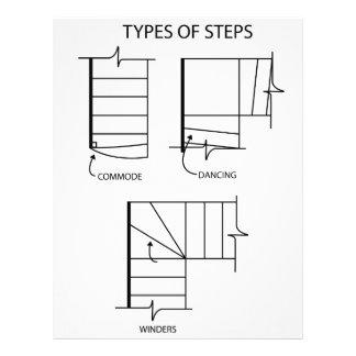 Type of steps for stair design letterhead