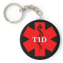 Type One Diabetes Medical Alert keychain