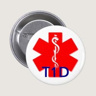 Type one diabetes medical alert pin