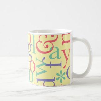 Type & Stripes: Type Coffee Mug