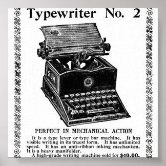 TYPE WRITER POSTER
