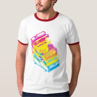 Type Writing Machine cmy Patent Illustration T-Shirt