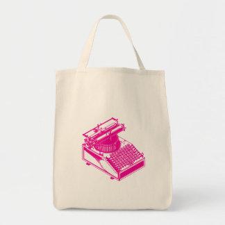 Type Writing Machine - Magenta Writer typewriter Tote Bags