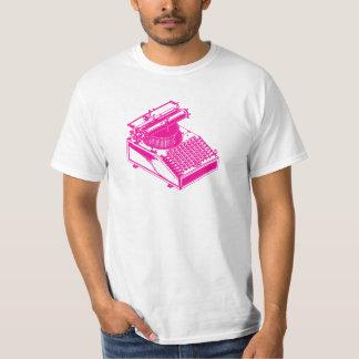 Type Writing Machine - Magenta Writer typewriter T Shirt