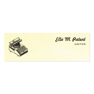 Type Writing Machine Patent Illustration Mini Business Card