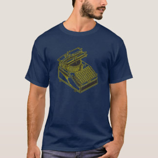 Type Writing Machine Patent Illustration T-Shirt