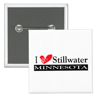 Type Your Minnesota Town 2 Inch Square Button