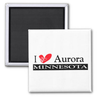 Type Your Minnesota Town 2 Inch Square Magnet
