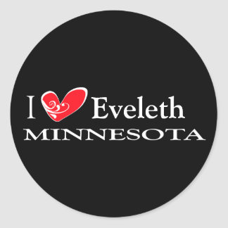Type Your Minnesota Town Classic Round Sticker