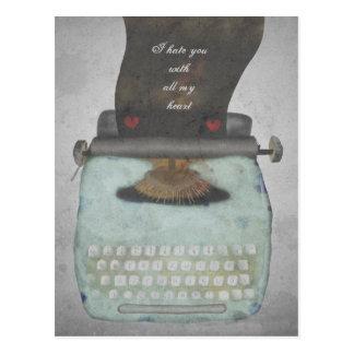 Type your own message vintage typewriter postcard