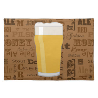 Types of Beer Series Print 2 Cloth Placemat