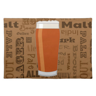 Types of Beer Series Print 3 Cloth Placemat
