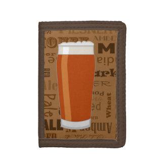 Types of Beer Series Print 3 Tri-fold Wallet