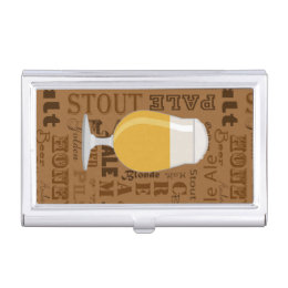Beer funny business card holders cases zazzle types of beer series print 4 business card holder colourmoves