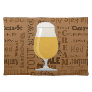 Types of Beer Series Print 4 Placemat