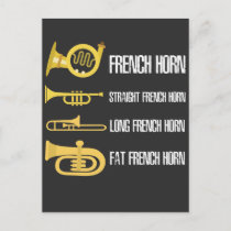 Types Of French Horn Player Brass Player Musician Postcard