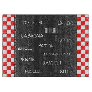 Types Of Pasta-Italian Cutting Board