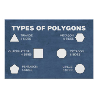 Types of Polygons Poster