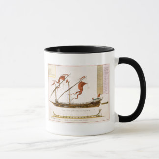 Types of shipping: a double-masted galley: section mug