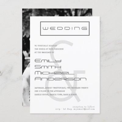 Typeset AMPERSAND Bold PHOTO Wedding Invitation