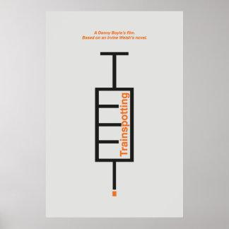 """Typesetter poster film """"Trainspotting""""."""