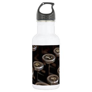 Typewriter 18oz Water Bottle