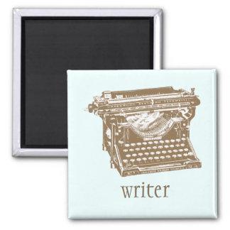 Typewriter 2 Inch Square Magnet