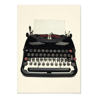 Typewriter 5x7 Paper Invitation Card