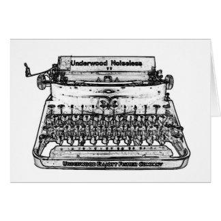 TYPEWRITER art  card