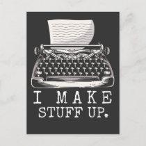 Typewriter Author Witty Storyteller Book Writing Postcard