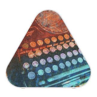 Typewriter Blue Red PopArt Bluetooth Speaker