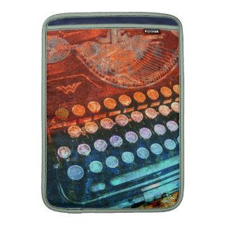 Typewriter Blue Red PopArt MacBook Sleeve