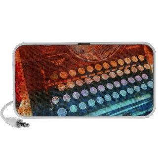 Typewriter Blue Red PopArt Speaker System
