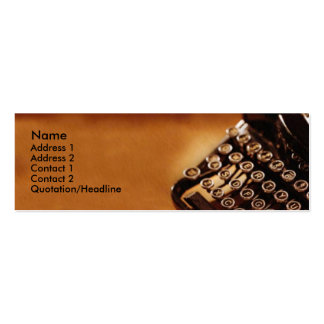 Typewriter Business Card
