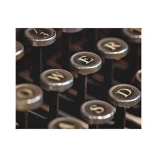 Typewriter Stretched Canvas Print