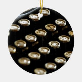 typewriter ceramic ornament