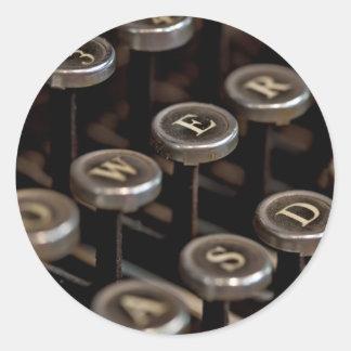 Typewriter Classic Round Sticker