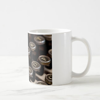 Typewriter Classic White Coffee Mug