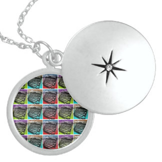 Typewriter Cool Pop Art for Writers and Authors Locket