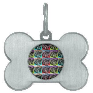 Typewriter Cool Pop Art for Writers and Authors Pet ID Tag