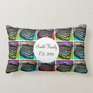 Typewriter Cool Pop Art for Writers and Authors Throw Pillows