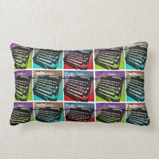 Typewriter Cool Pop Art for Writers and Authors Throw Pillow