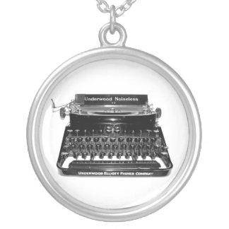 Typewriter Editor Author Novelist writer Necklace